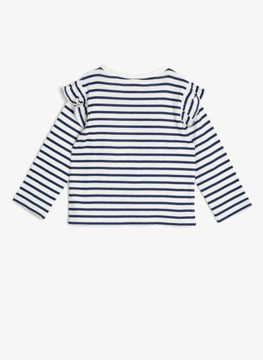 Koton Kids Çizgili T-Shirt Lacivert
